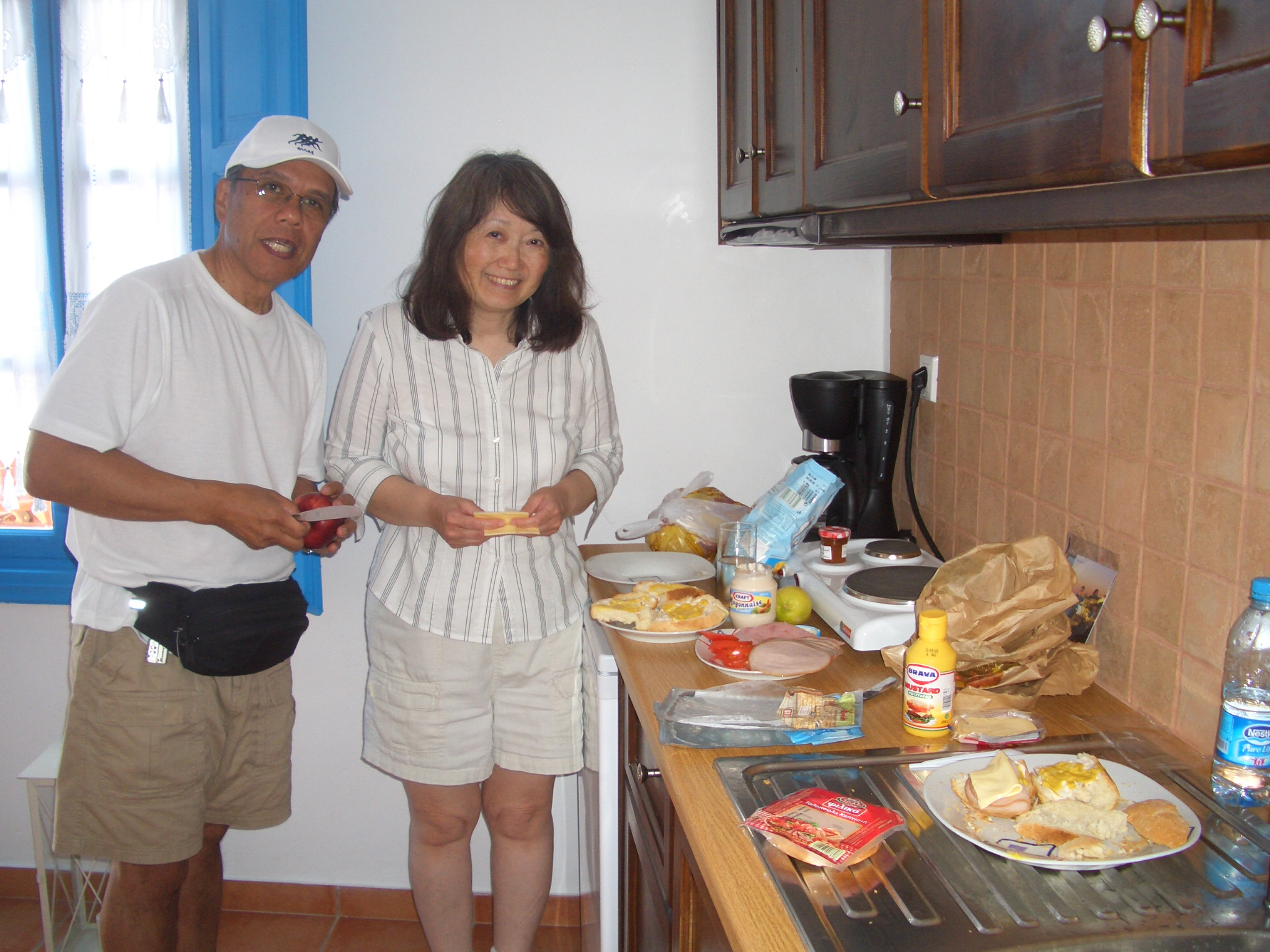 mom and dad making lunch