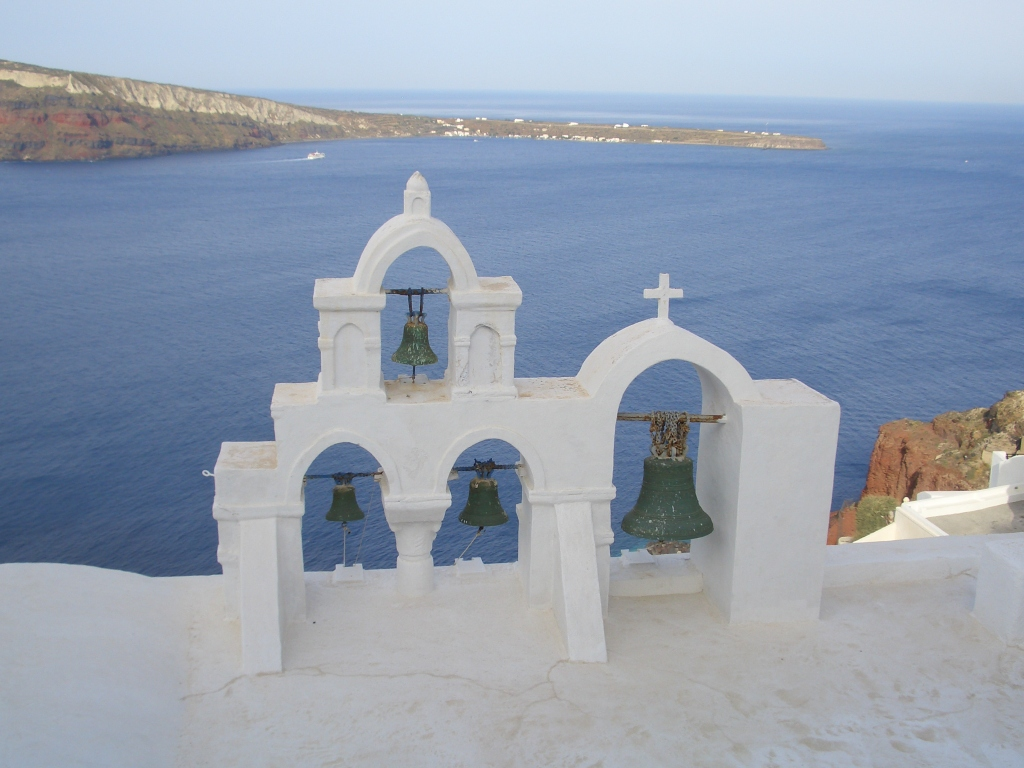 church bells in oia