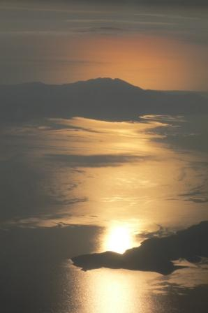 sunrise over the greek islands