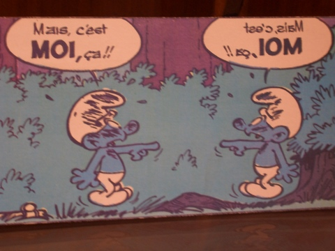 an original smurf comic strip